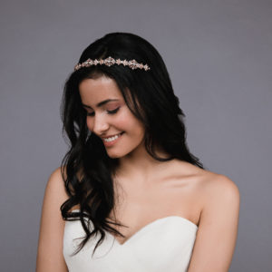 Ansonia Style 8809 Filigreed rhinestone headband. Available in Silver and rosegold 3