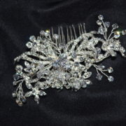 Rhinestone and crystal comb.