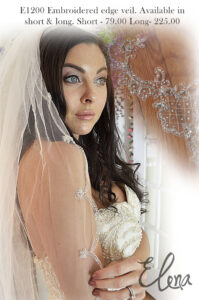 E1200 Embroidered edge veil with price