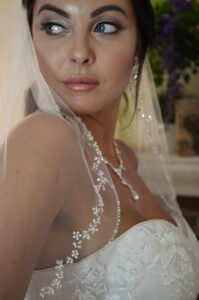 E1204 Sequin & beaded edge veil. Available in cathedral & fingertip. (3)